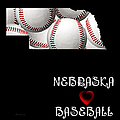 Nebraska Loves Baseball Print by Andee Design