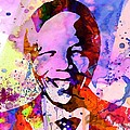 Nelson Mandela Watercolor by Naxart Studio
