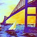 Neon Newport Bridge