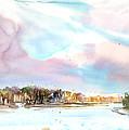 New England Landscape No.216 Print by Sumiyo Toribe