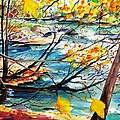New England Leaves Along The River by Scott Nelson