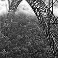 New River Gorge Bridge Black And White by Thomas R Fletcher