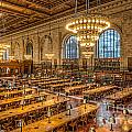 New York Public Library Main Reading Room Ix by Clarence Holmes