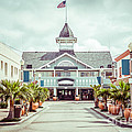 Newport Beach Balboa Main Street Vintage Picture Print by Paul Velgos