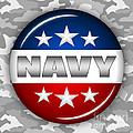 Nice Navy Shield 2 by Pamela Johnson