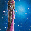 Night Of 50 Wishes Fairy Print By Shawna Erback by Shawna Erback