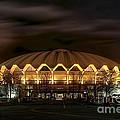 night WVU basketball Coliseum arena in by Dan Friend
