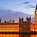 Nightly View - Houses Of Parliament by Melanie Viola