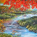 Nixon's Brilliant View Of Fall Alongside The Rapidan River by Lee Nixon
