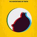 No096 My Tintin-3d Minimal Movie Poster by Chungkong Art