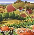 No10 Happy 60th Birthday greeting card by Walt Curlee