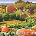 No10 Old Friends Are The Best Friends Greeting Card  by Walt Curlee