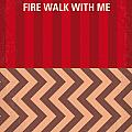 No169 My Fire Walk With Me Minimal Movie Poster by Chungkong Art