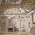 Monastery Of St Trinita Del Monte by Charles Louis Clerisseau