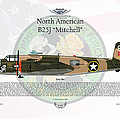 North American B-25j Mitchell Yellow Rose by Arthur Eggers