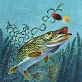 Northern Pike Spinner Bait by Jon Q Wright