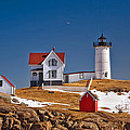Nubble Lighthouse 3 by Joann Vitali