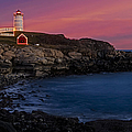 Nubble Lighthouse At Sunset by Susan Candelario