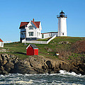 Nubble Lighthouse One by Barbara McDevitt