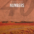 Numbers Books Of The Bible Series Old Testament Minimal Poster Art Number 4 by Design Turnpike