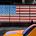 NYC cab yellow times square Print by John Farnan