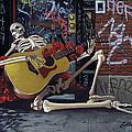 Nyc Skeleton Player by Gary Kroman