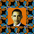 Obama Abstract Window 20130202p28 Print by Wingsdomain Art and Photography