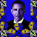 Obama Abstract Window 20130202verticalm118 Print by Wingsdomain Art and Photography
