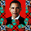 Obama Abstract Window 20130202verticalp0 Print by Wingsdomain Art and Photography