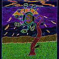 Ocean Side Flower At Sun Set    V3 by Kenneth James