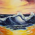 Ocean Sunset by C Steele