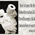 Ode To The Spare Roll Bw 2 by Andee Design