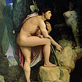 Oedipus And The Sphinx by Ingres