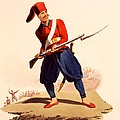 Officer Of European Infantry Of Ottoman Print by Thomas Charles Wageman