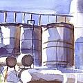 Oil Depot In April by Kip DeVore