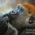 Oil on Canvas-Print-Gorilla Day Dreams Print by Adrian Tavano