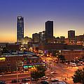 Oklahoma City Nights Print by Ricky Barnard