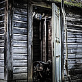 Old Abandoned Well House With Door Ajar by Edward Fielding