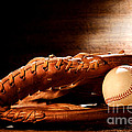 Old Baseball Glove by Olivier Le Queinec