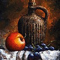 Old Bottle And Fruit by Emerico Imre Toth