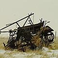 Old Farm Equipment Northwest North Dakota by Jeff Swan