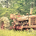 Old Farmall Tractor At Sunrise by Edward Fielding