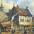 Old Houses And St Olaves Church by George Shepherd