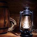 Old Kerosene Lantern by Olivier Le Queinec