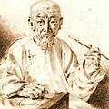 Old Man Smoking 1860