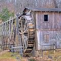 Old Mill Water Wheel And Sluce by Douglas Barnett