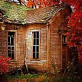 Old One Room School House In Autumn by Julie Dant