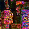 Old Pharmacy Bottles - 20130118 V2a by Wingsdomain Art and Photography