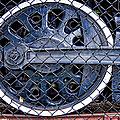 Old Steam Engine -train Wheels by Liane Wright