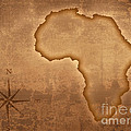 Old Style Africa Map by Johan Swanepoel